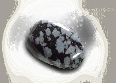 Angelic Stone : Snowflake Obsidian